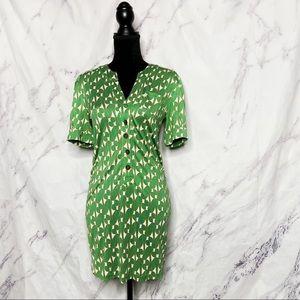 Diane von Furstenberg DVF Silk Green Print Dress